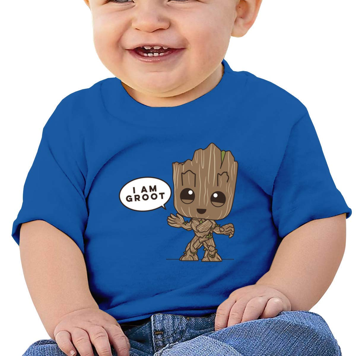 MYHL Baby Boy Girls Washed Cotton Shirt I Am Groot Cute Toddler Kids Summer Funny T Shirt