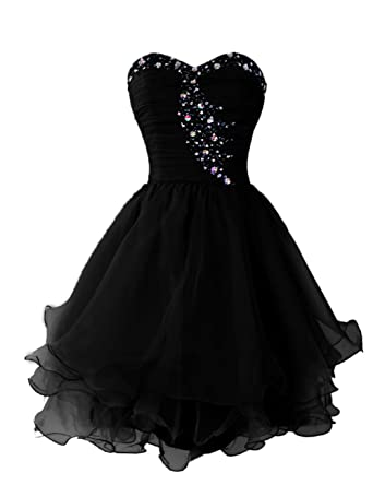 Dressystar Short Homecoming Dress For Juniors Sweetheart Prom Birthday Gowns Size 2 Black