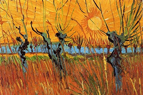 Vincent Van Gogh Willows Sunset Poster 24x36 inch