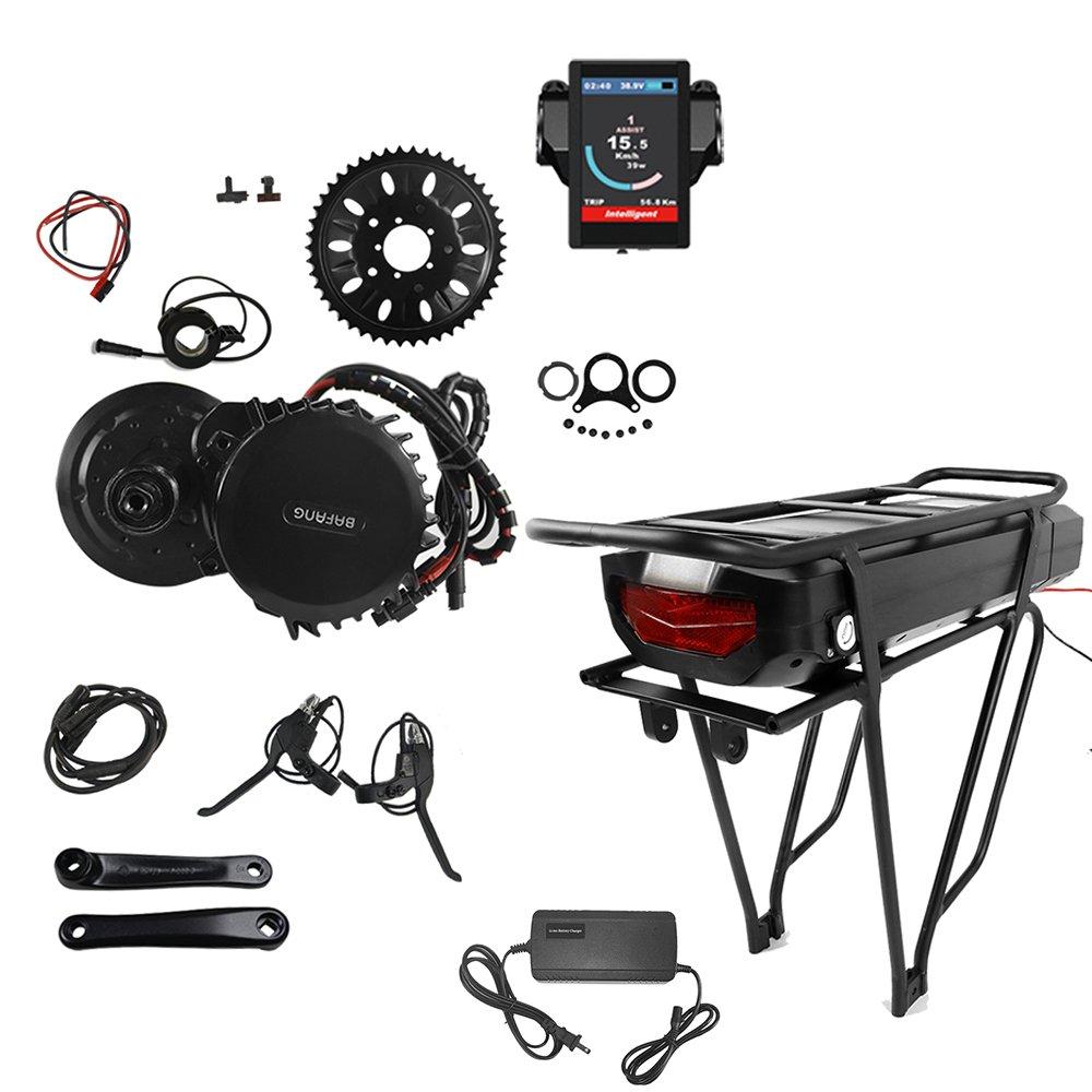 Bafang BBSHD 750W 48V Ebike Motor with LCD Displayミッドドライブ電動バイクコンバージョンキット(バッテリーと充電器付) B07D3TSSDT BB100mm + 42Tチェーンホイール(バッテリー付き)|750Cディスプレイ 750Cディスプレイ BB100mm + 42Tチェーンホイール(バッテリー付き)