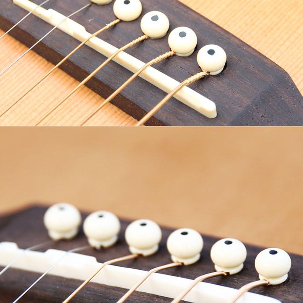 2 x Gitarrensaiten Kissen oben und unten Knochen Bruecke