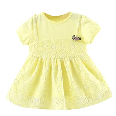7439750d1ddc Amazon.com  Goodlock Toddler Kids Fashion Dress Baby Girls Short ...