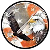 American Made Soaring Eagle Thermometer Large Round Dial in USA