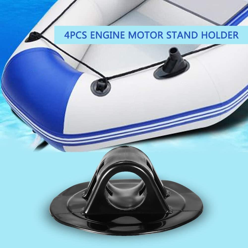 Alomejor 2 clips de soporte de motor para kayak inflable barco canoa goma Dinghy