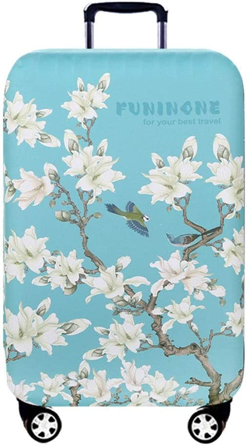 Yuybei-Bag Luggage Cover 3D Flowers Pattern Travel Luggage Cover Zipper Suitcase Cover Fits 18-32 Inch Luggage Travel Luggage Sleeve Protector 22-24 Color : E, Size : M