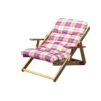 Amazon.de: Sessel Liegestuhl 3 Positionen bordeaux mit Kissen für ...