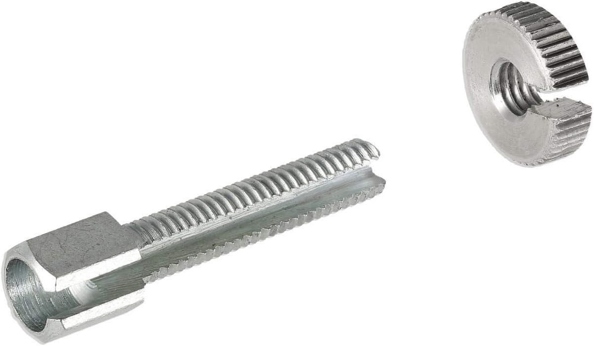 Fez Stellschraube Lang Mit Rändelmutter M6x30 Geschlitzt F Lenkerarmaturen Bowdenzüge Gesamtlänge 40mm Für Simson Mz Auto