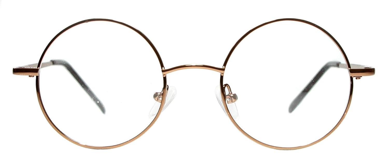235de322030d Amazon.com  Metal Full Rim Round Eyeglasses Frame (Large Size) - Black