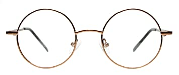 ac719f22fae6 Image Unavailable. Image not available for. Color  Metal Full Rim Round  Eyeglasses Frame (Large Size) ...