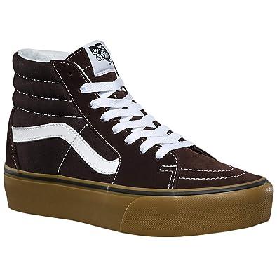cd4585f75c6 Amazon.com | Vans Unisex Sk8-Hi Platform 2 Suede Canvas Chocolate Torte  Trainers (080) | Fashion Sneakers