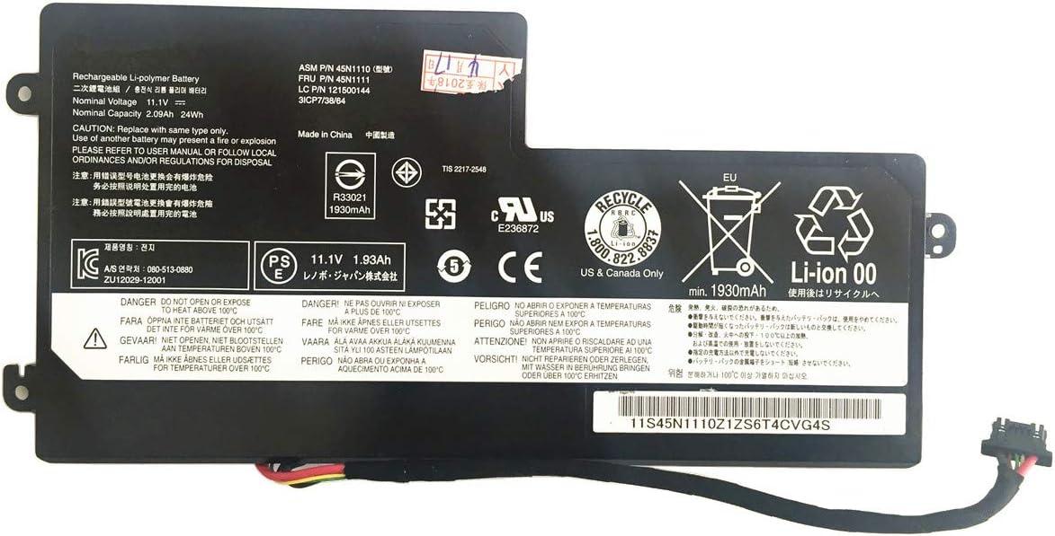 BattPit Laptop Battery for Lenovo 45N1108 45N1109 45N1110 45N1111 45N1773 ThinkPad T440 X240 X270 2090mAh//24Wh