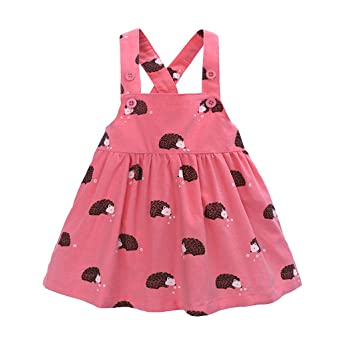 TIFIY Mädchen ärmelloses Kleid Cartoon Kleinkind Drucken Party Overall Kleid