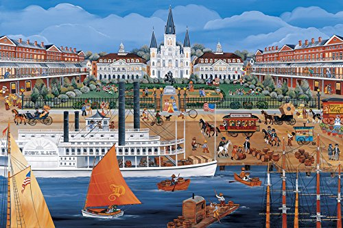 Jackson Square in New Orleans, Louisiana, Boxed Greeting Cards, Qty 12, 5