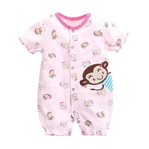 2ade6673e Amazon.com  Jarsh Infant Baby Girls Cartoon Monkey Printed Short ...