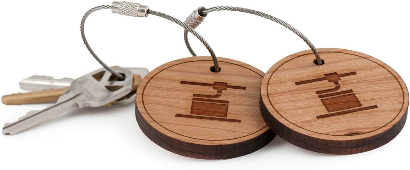 3d impresora llavero, madera Twist Cable llavero: Amazon.es ...