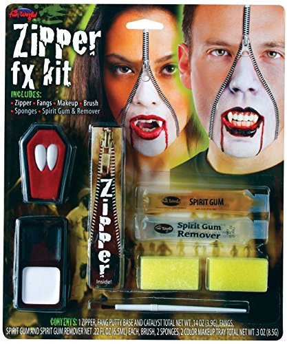 Vampire Zipper Fx Kit Halloween Makeup -
