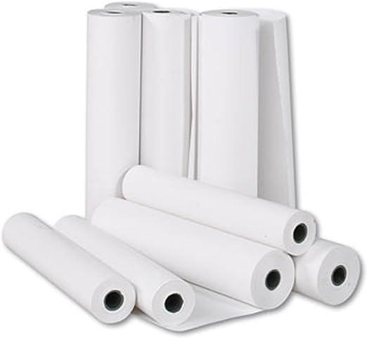 8 Rollos Papel Plotter 62,5 cmx50mt Cad Blanco 90 gr Impresión Profesional proyectos: Amazon.es: Electrónica