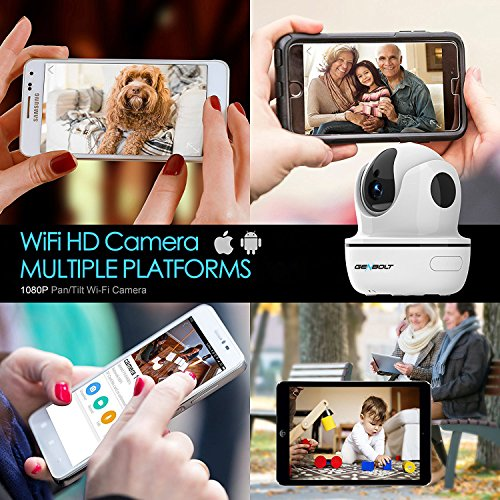 1080P Wireless IP Security Camera - GENBOLT WiFi HD CCTV Pan Tilt Spy Camera indoor for Home Surveillance, Two Way Audio Motion Detection Remote Webcam, Dog Cam, Baby Monitor by GENBOLT (Image #7)