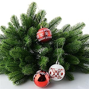 Nyalex 10Pcs Artificial Flower Fake Green Plants Pine Branches Christmas Tree For Christmas Party Decorations Xmas Tree Ornaments 5
