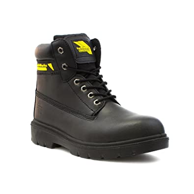 cbdb120f9d80 Earth Works Safety - Earthworks Mens Lace Up Safety Boot in Black - Size 6  UK