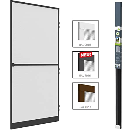 Anti - Insect Door Screen - Grey Aluminium Frame - Mosquito Net - For Doors up  sc 1 st  Amazon UK & Anti - Insect Door Screen - Grey Aluminium Frame - Mosquito Net ...