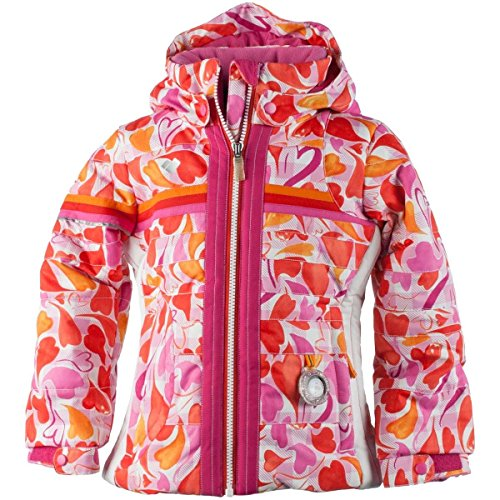 Obermeyer Girls Snowdrop Jacket (Heart Gingham / 3) by Obermeyer