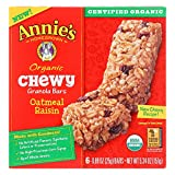 Annie's Homegrown Organic Chewy Granola Bars Oatmeal Raisin - Case of 12 - 5.34 oz.