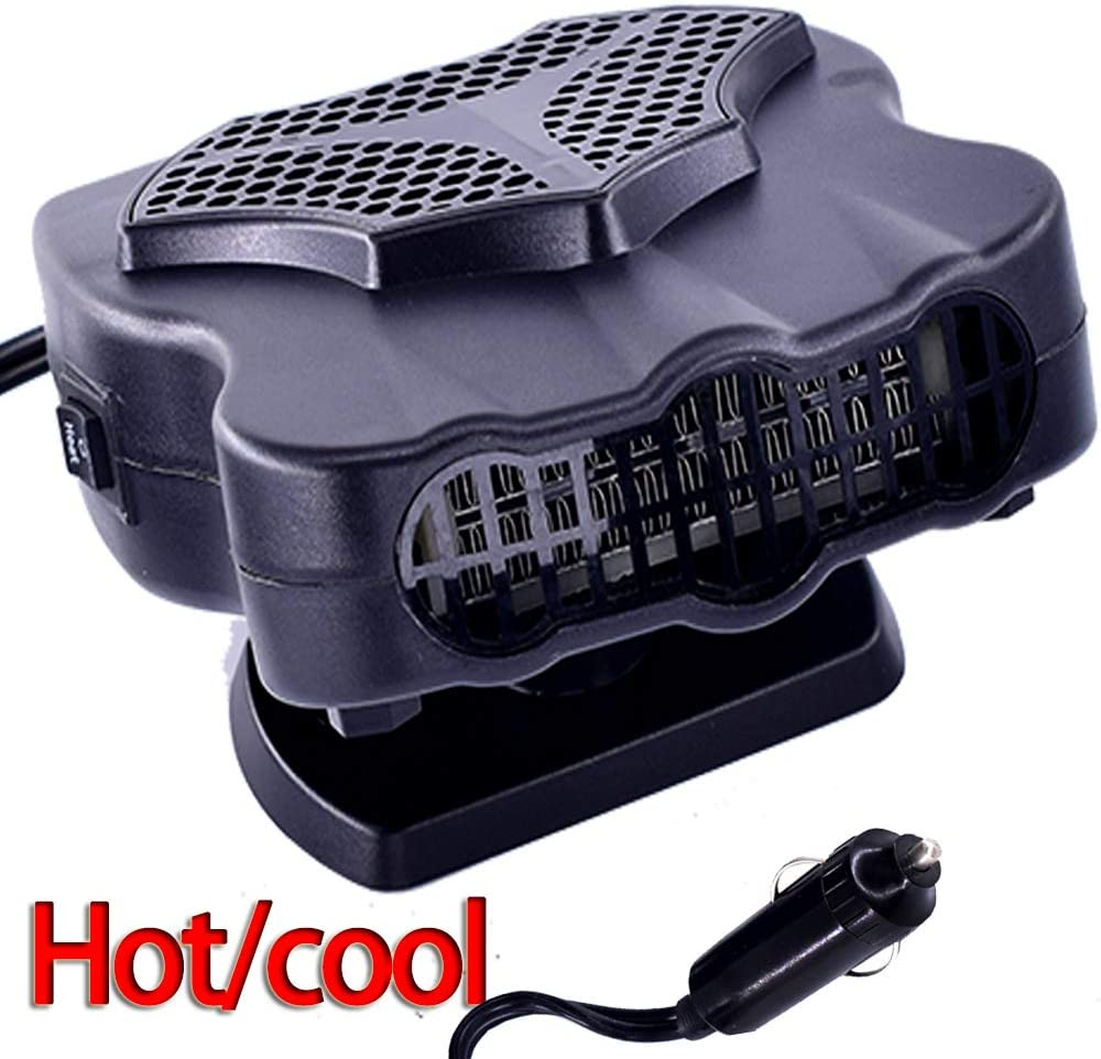 Car Heater Fan 12V 30S Fast Heating 150W Portable Car Auto Vehicle Electronic Heater or Fan 2-in-1 Heating Cooling Function Windshield Demister Defroster