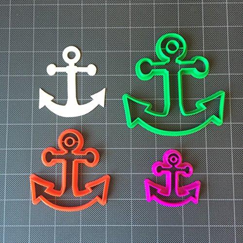 Anchor Cookie Cutter / Fondant Cutter / Cupcake Topper (2, 3 and 4 inch)