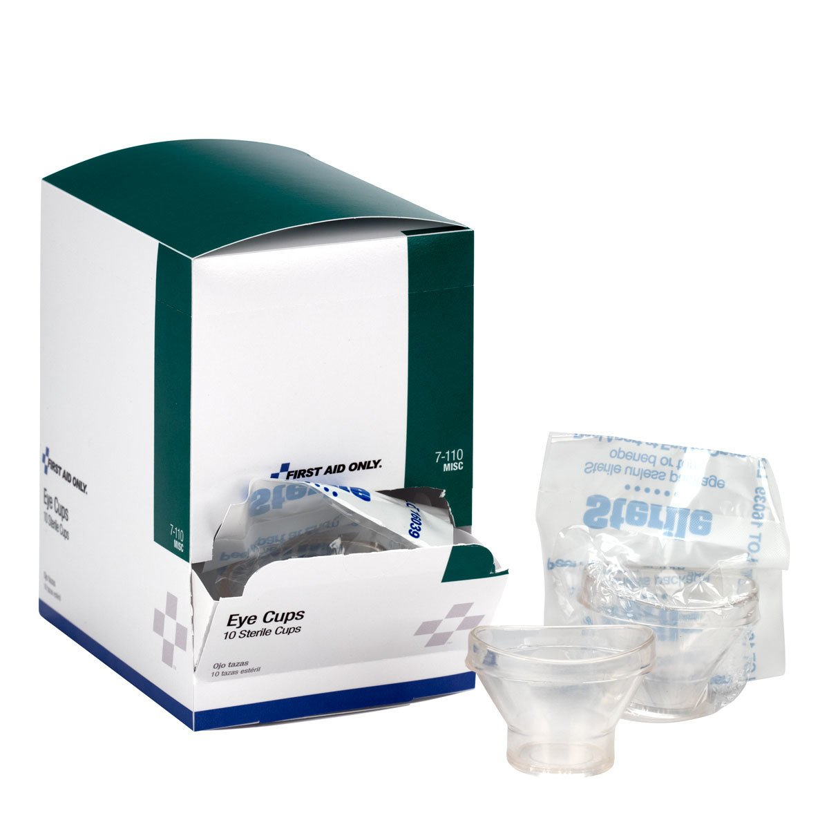 First Aid Only Sterile Eye Cups, 10 Per Box