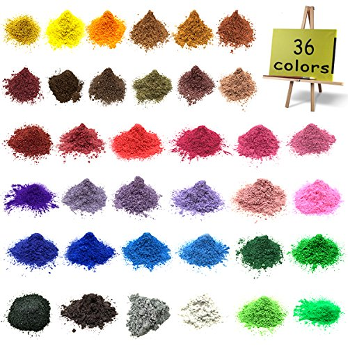 Mica powder–Soap dye Soap colorant for Bath bomb Dye colorant–Soap making dye,36 Colors Soap Making Kit-Hand Soap Making Supplies–Resin Dye - Mica Powder Organic for Soap Molds–Makeup Dye