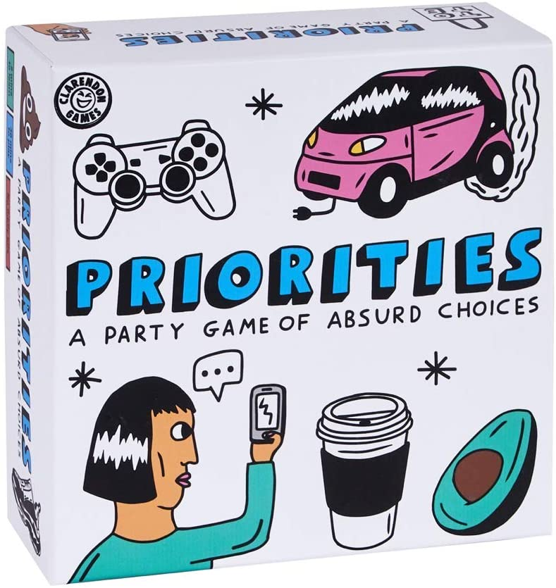 Priorities: The Hilarious New Party Game of Absurd Choices That Gets Everyone Laughing – Party Games for Adults and Teenagers- Card Games
