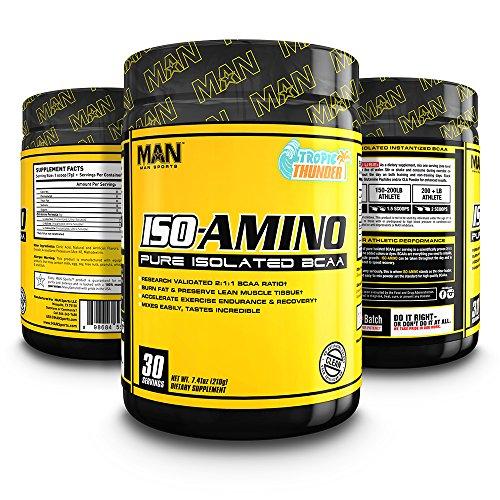 MAN Sports Iso-Amino BCAA Powder, Tropic Thunder, 210 Gram