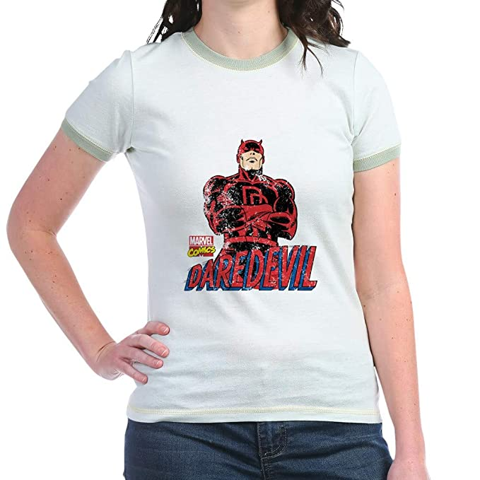 573204d430c Amazon.com  CafePress Vintage Daredevil Jr. Ringer T Ringer T-Shirt ...