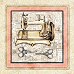 "Sewing Signed Art Print by Dan Morris 12""x12"" titled Vintage Sewing Machine 1"