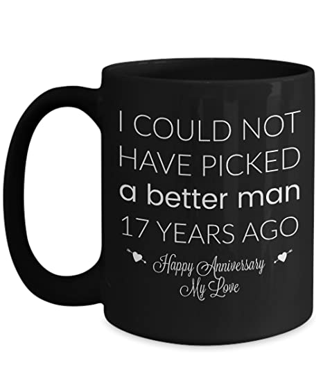 Image Unavailable. Image not available for. Color: 17th Wedding Anniversary Gifts For Him ...