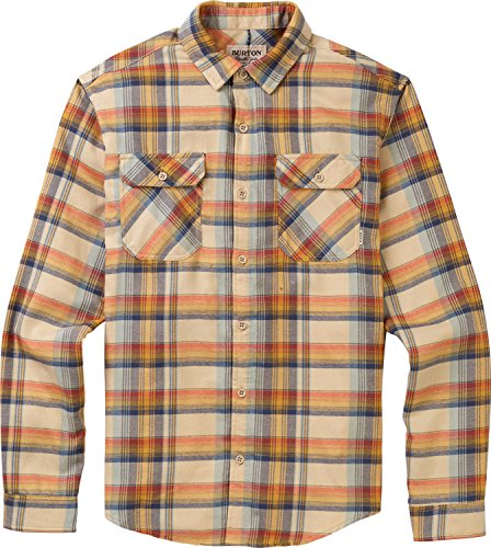 Safari Flannel - Burton Brighton Flannel Shirt, Safari Stella Plaid, Large