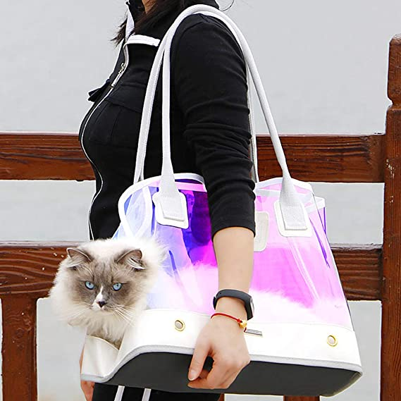 MOCOHANA Dog Carrier Purse Pet Travel Bag Cat Handbag Portable Pet Travel Carrying Handbag Pet Tote Bag for Small Dog and Cat Car Outdoor Travel Walking Hiking Perfect for Subway and Bus Travel