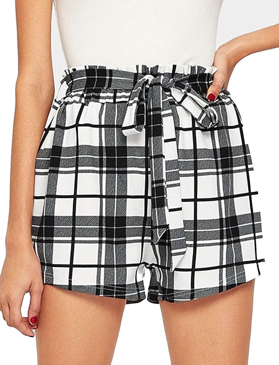 Multicolor 12 Romwe Women's Casual Elastic Waist Summer Shorts Jersey Walking Shorts