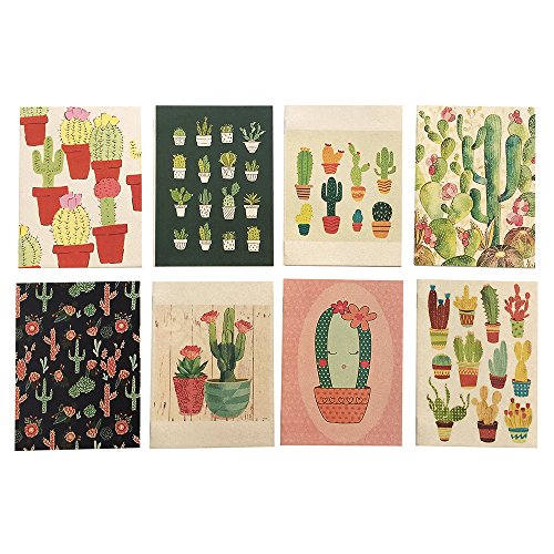 Notebook Wedding Favors - Cactus Summer Theme Mini Notebook, Fiesta Party Favors for Birthday, Wedding, Baby Shower - Set of 8