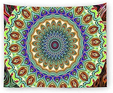 Indian Mandala Printing Wall Hanging Tapestry Hippie Rectangle TableCloth Tapestries Beach Towel Blanket for Home Living Room Bedroom Decor