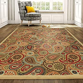 Amazon Com Generations Panal And Diamonds Area Rug 5 2