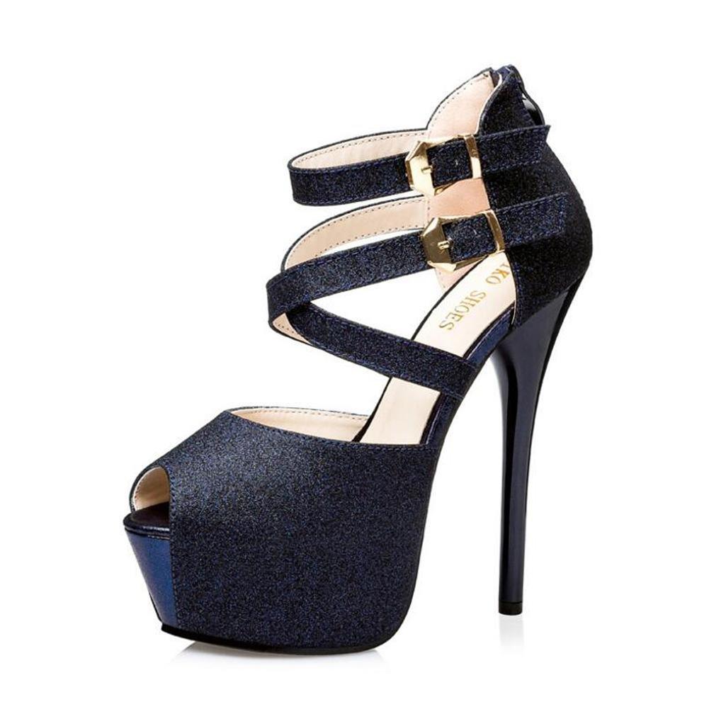 Talons Bouche Hauts Eau De La Femme GivréS Danse avec Des Sandales De Danse Boutons De Bouche à La Poitrine à L Eau éTanche De 14 Cm blue 3a3d1c7 - shopssong.space