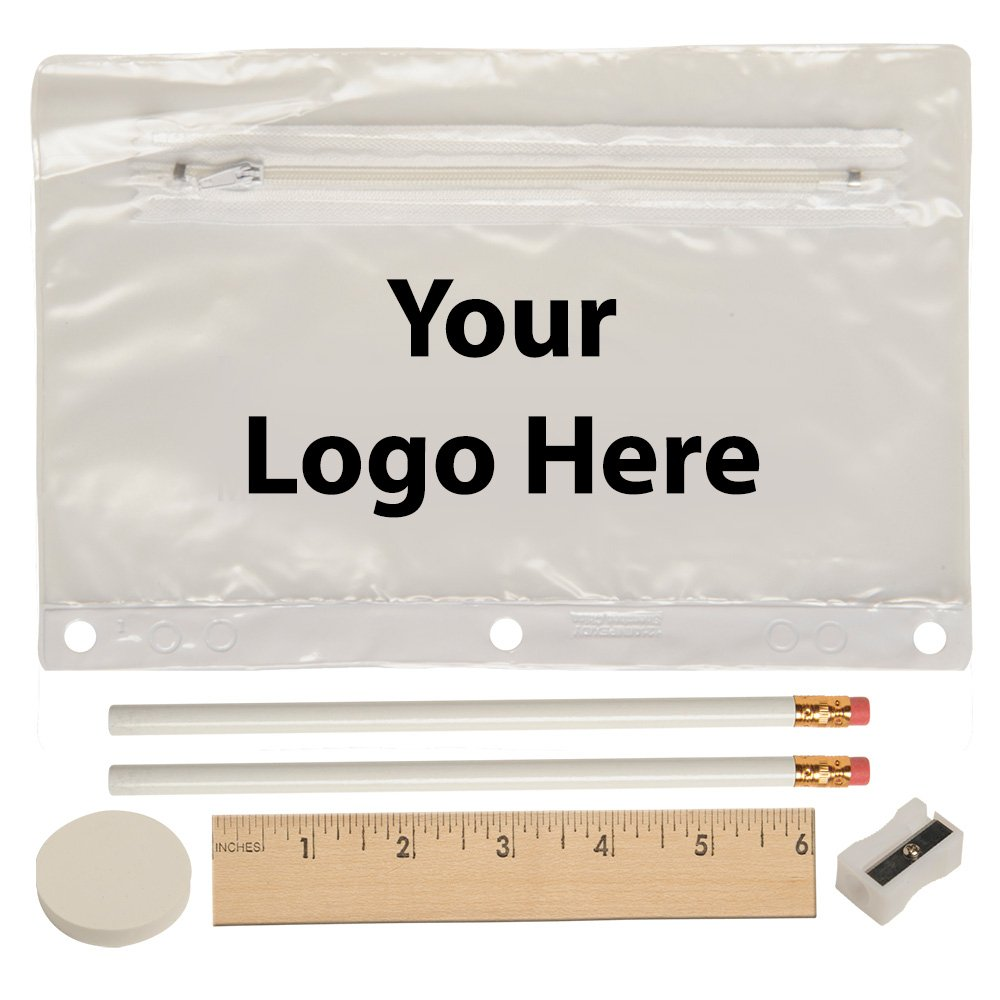 Deluxe School Kit - 125 Quantity - $2.85 Each - PROMOTIONAL PRODUCT / BULK / BRANDED WITH YOUR LOGO / CUSTOMIZED
