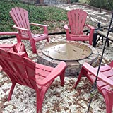 """34 3/4"""" Metal Conical Shape Cover fire pit ring cover.6"""" tall."""