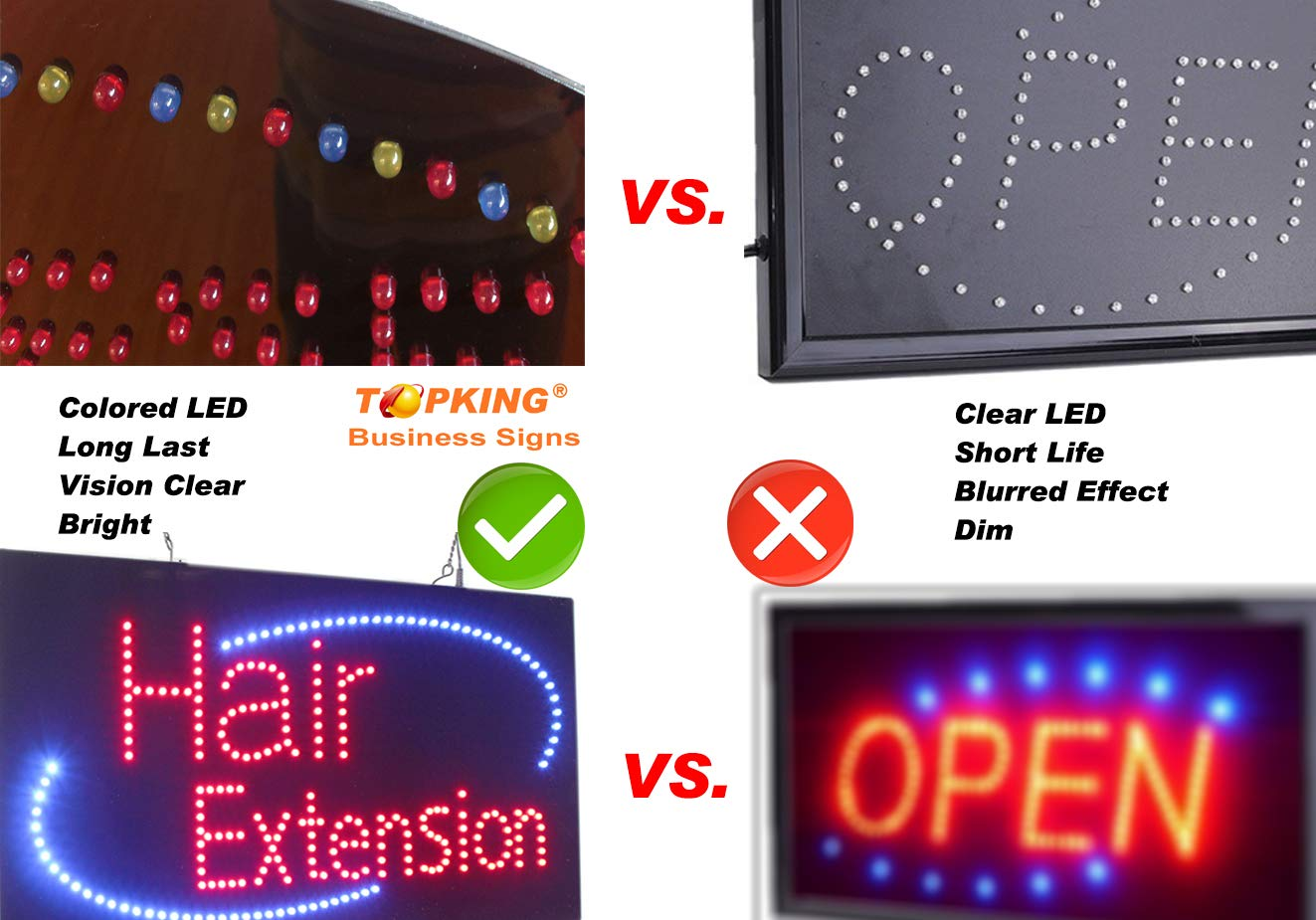 Horizontal Light Up Sign for Business LED Gift Shop Sign for Business Displays 11H x 27W x 1D