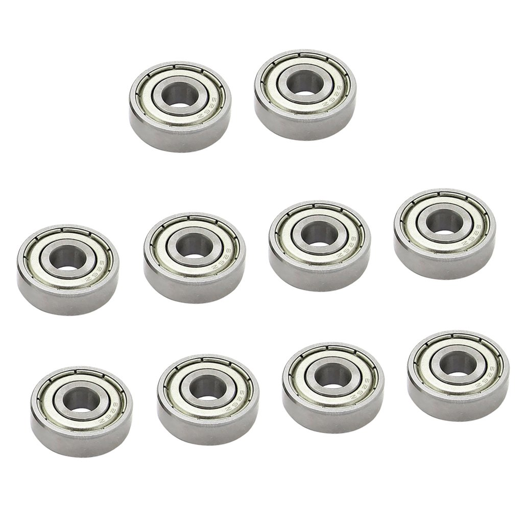 MagiDeal Pack of 10pcs High Quality Radial Ball Bearings 3D Printer Part Mini Bearing - Silver, 608zz