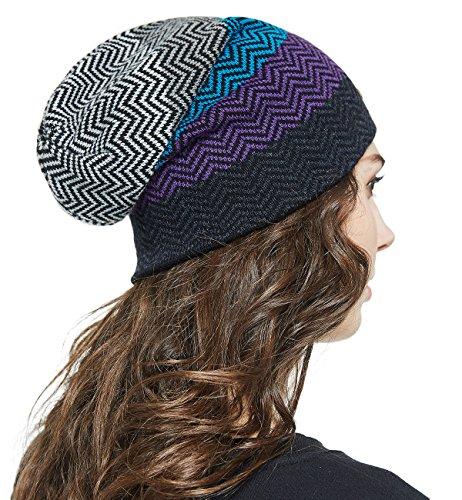 72a3baed03876 LETHMIK Winter Long Slouchy Beanie Unique Mix Knit Ski Cap Hat Skully for  Men   Women