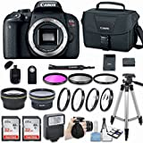 Canon EOS Rebel T7i DSLR Camera (Body Only) with Bundle - Includes 58mm HD Wide Angle Lens + 2.2x Telephoto + 2Pcs 32GB Sandisk SD Memory + Filter & Macro Kit & More Accessories