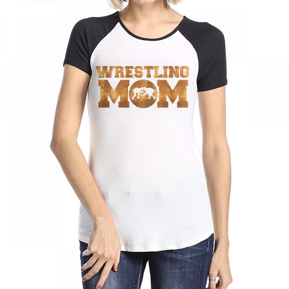 Goldsmith Sally Wrestling Mom Womens Short Sleeve Round Neck Raglan Baseball T-Shirts Top by Goldsmith Sally